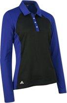 Adidas Dames Golf Polo Lange Mouwen Donkerblauw/zwart Maat Xs
