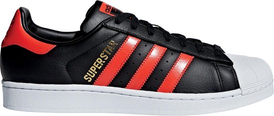 adidas superstar wit rood heren