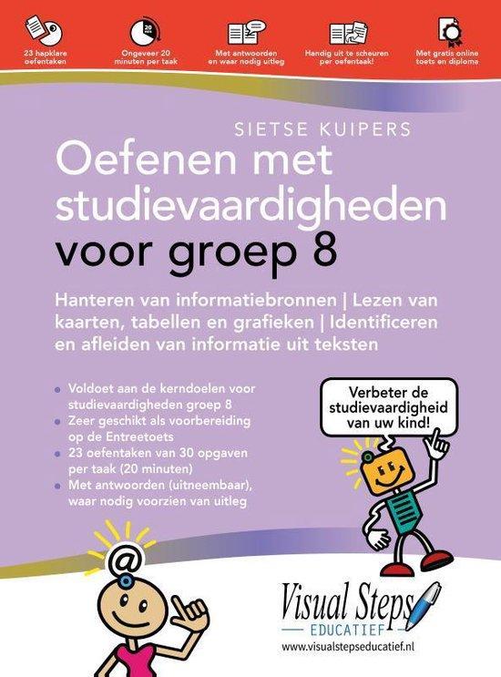 Boek cover Oefenen met studievaardigheden voor groep 8 van Sietse Kuipers (Paperback)