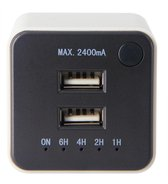 USB-LADER 2XUSB 2.4A +TIMER