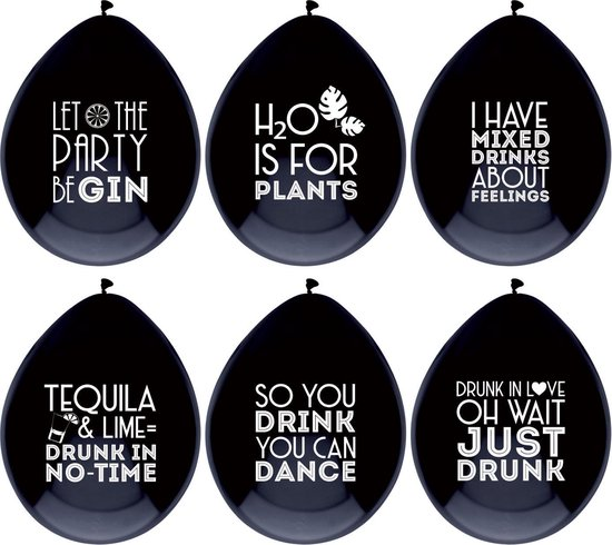 Ballonnen Funny Drink Quotes 30cm (18ST)