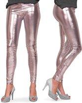 Legging Metallic Zilver Maat S/M