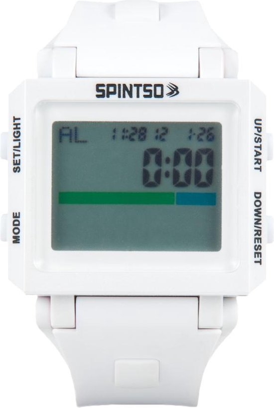 Spintso 2S - Scheidsrechtershorloge - Wit/Grijs - Spintso