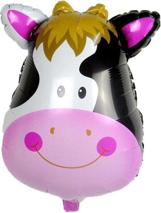 Dieren folieballon koe 42 cm - Folieballonnen/heliumballonnen - Koeien dierenthema folie ballonnen
