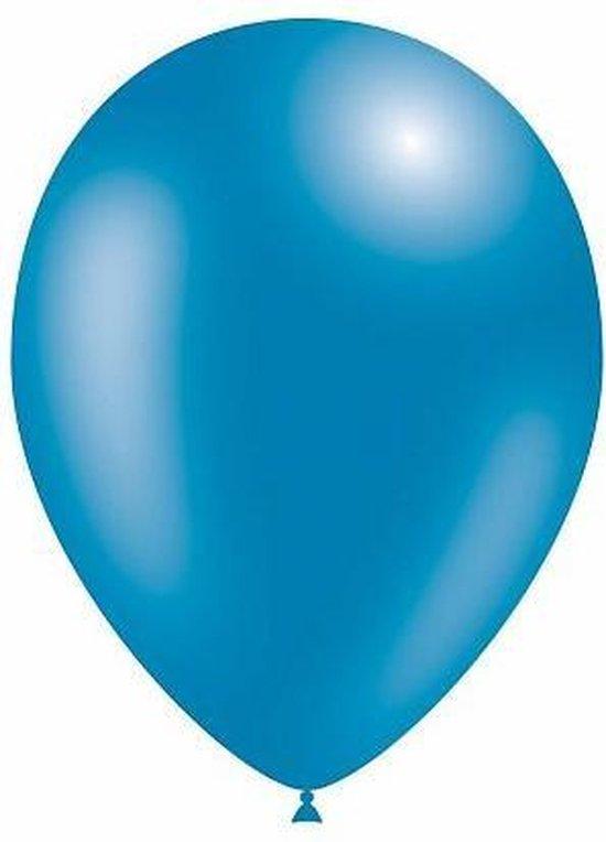 10 Metalic blauwe ballonnen