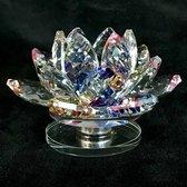 Kristal lotus bloem op draaischijf luxe top kwaliteit meerdere kleuren 9.5x6x9.5cm handgemaakt Echt ambacht.