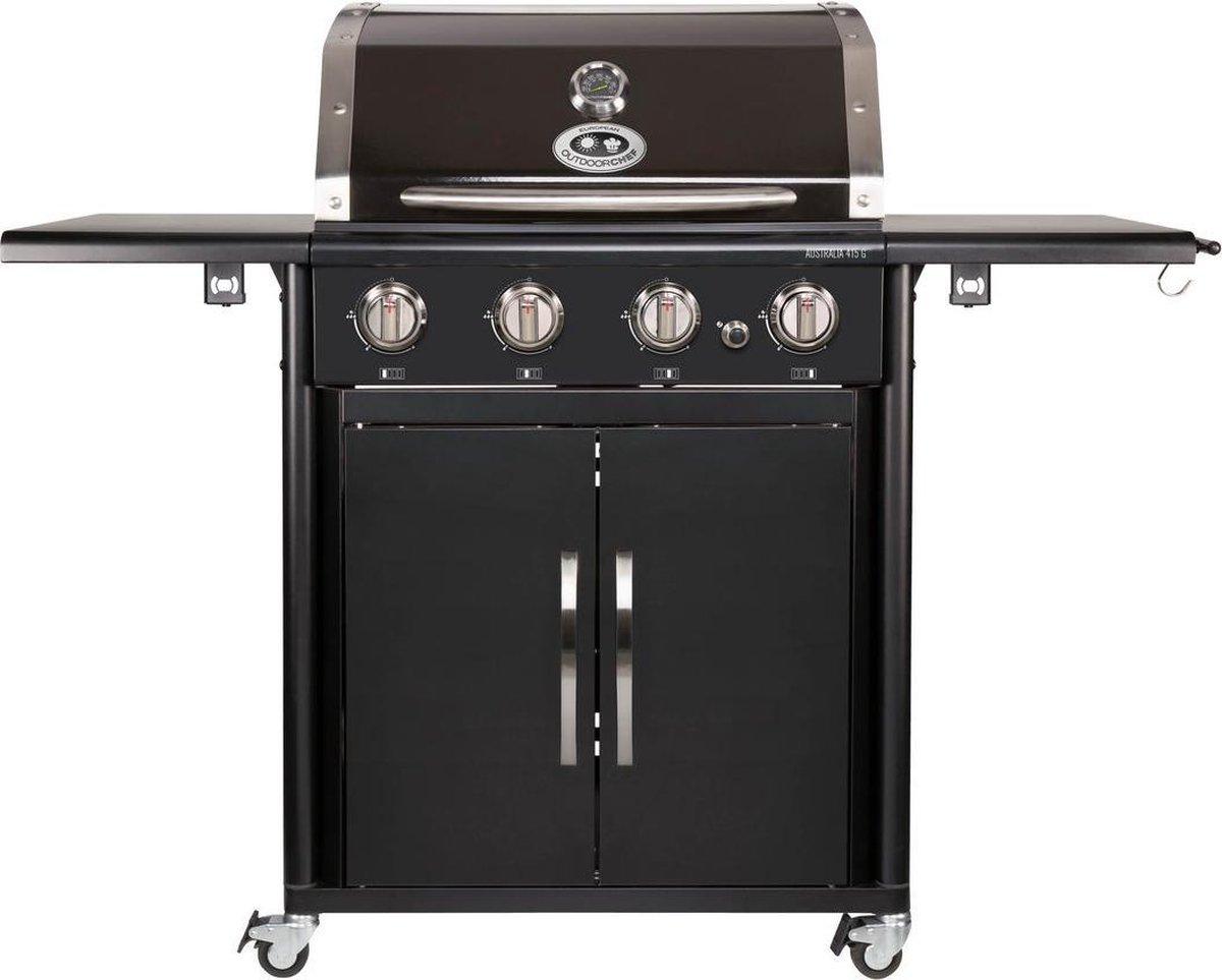 Outdoorchef Australia 415 G Gasbarbecue - 5 branders - Zwart