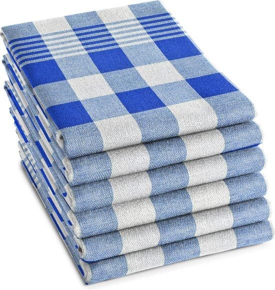DDDDD Theedoek Block Blue (6 stuks)