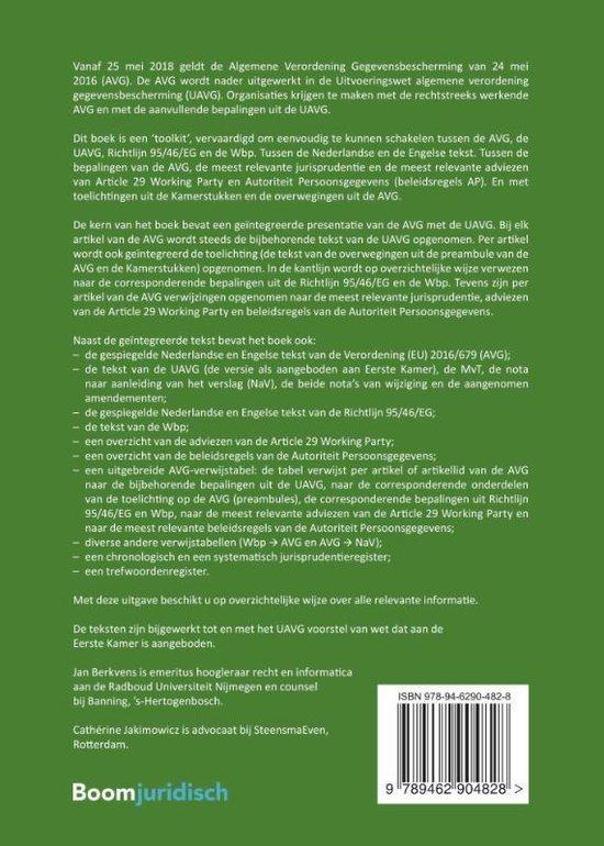Tekstuitgave Privacyverordening & UAVG - Boom Juridische uitgevers