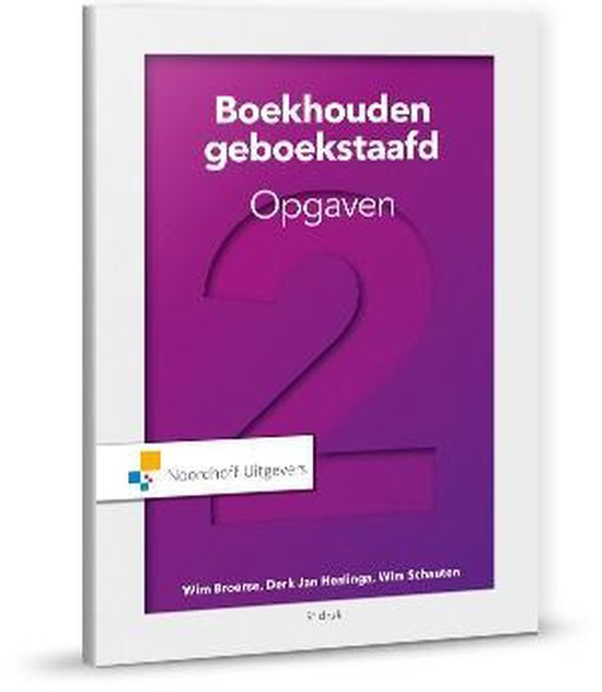 Boek cover Boekhouden geboekstaafd 2 opgaven van Wim Broerse (Paperback)