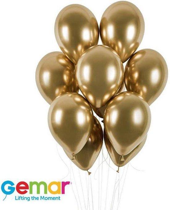 Chrome Gold ballonnen 10 stuks