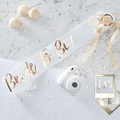 Sjerp - Bride to Be papier (wit/goud)