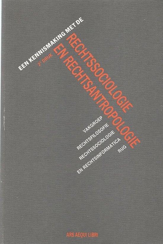 Een kennismaking met de rechtssociologie en rechtsantropologie - Ars Aequi Libri |