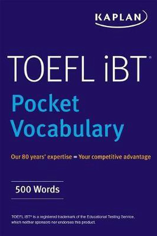 Boek cover TOEFL Pocket Vocabulary van Kaplan Test Prep
