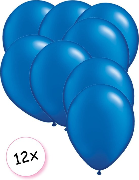 Ballonnen Blauw 12 stuks 27 cm