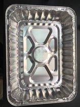 Aluminium rechthoekige voedsel containers, 6300 ml - verpakking van 5 containers