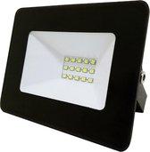 Buitenlamp zwart | LED 10W=100W halogeen schijnwerper | daglichtwit 4000K | waterdicht IP65