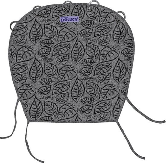 Dooky Universal Cover - Grey Leaves
