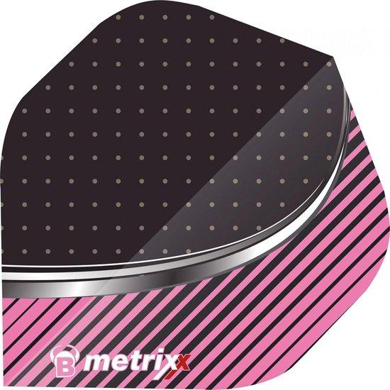 Bull´s Metrixx Flights 3 Stuks Zwart/roze