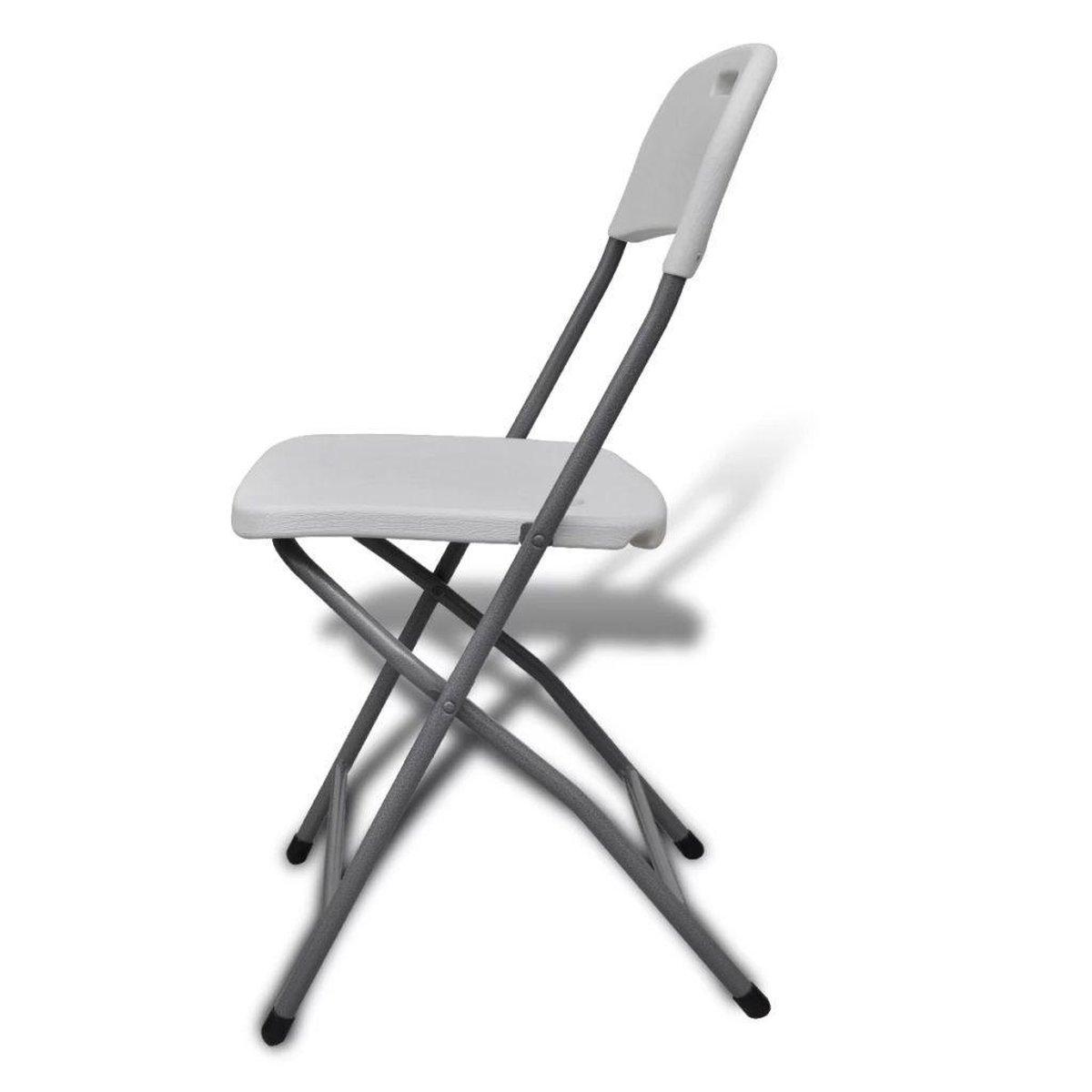 Klapstoelen voor buiten 4 HDPE wit 2 st