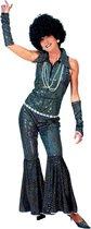 Verkleedpak disco glitter jumpsuit vrouw Boogie Queen 40-42