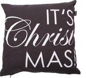 In The Mood Christmas Tekst - Sierussen - 45x45 cm - Antraciet