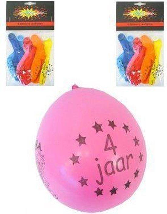 Leeftijdballon 4 jaar