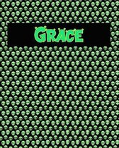 120 Page Handwriting Practice Book with Green Alien Cover Grace