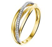 The Jewelry Collection Ring Diamant 0.11ct H Si - Bicolor Goud