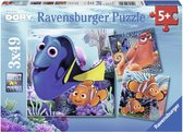 Ravensburger Disney Finding Dory. Vind Dory- Drie puzzels van 49 stukjes - kinderpuzzel