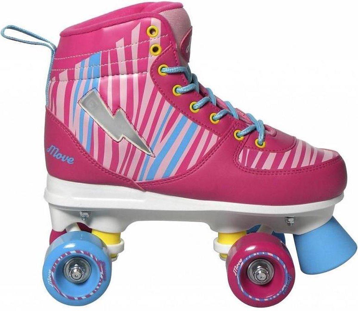 Move Rolschaatsen Quad Zebra Meisjes Roze Maat 35/36
