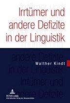 Irrtuemer Und Andere Defizite in Der Linguistik