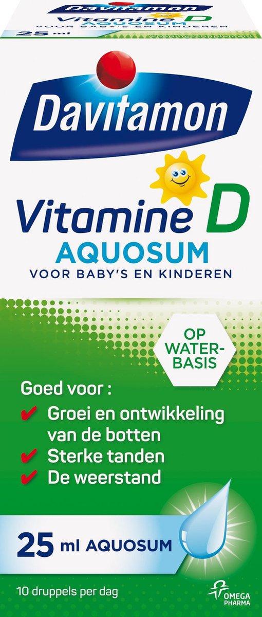 Davitamon vitamine D Aquosum   bevat vitamine D3 - vitamine D baby op waterbasis - 25 ml