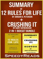 Omslag Summary of 12 Rules for Life: An Antidote to Chaos by Jordan B. Peterson + Summary of Crushing It by Gary Vaynerchuk 2-in-1 Boxset Bundle