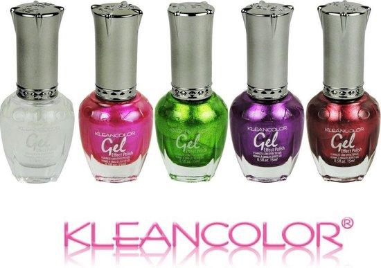 Gellak starterskit, gel nagellak zonder lamp, Metallic set, Kleancolor