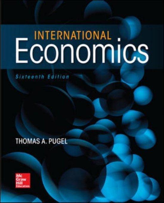 Boek cover International Economics van Thomas Pugel