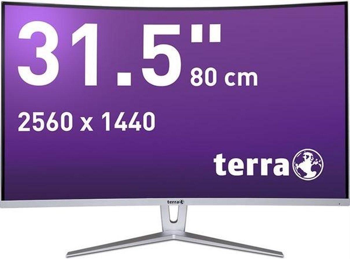 Wortmann AG TERRA LCD/LED 3280W 80 cm (31.5) 2560 x 1440 Pixels Quad HD Zilver, Wit