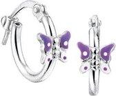 The Kids Jewelry Collection oorringen Vlinder - Zilver