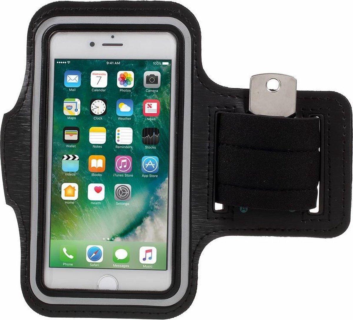 iPhone 6 / 6s / 7 Sport Armband Hardloop Hoesje - Zwart - SoFetch