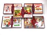 100 stuks: Luxe Kerstkaart en Nieuwjaarskaart met envelop | 15x10.5cm | 10 pakjes | Serie Rood - B-B