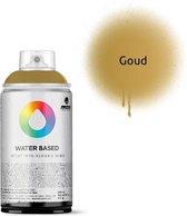 MTN Gouden waterbasis spuitverf - 300ml lage druk en matte afwerking