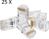 Connector Stekker Plug 25X RJ-45 CAT-5E / CAT 6 - Internet/Netwerk Kabel
