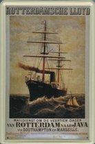 Rotterdamsche Lloyd Batavia reclame schip Batavia reclamebord 20x30 cm