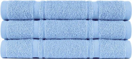 4 stuks Badstof Keukendoeken 50x50 cm Uni Pure Zeeblauw Mar col 2096