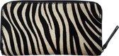 TOUTESTBELLE - Leren dames portemonnee rits vacht - Zebra