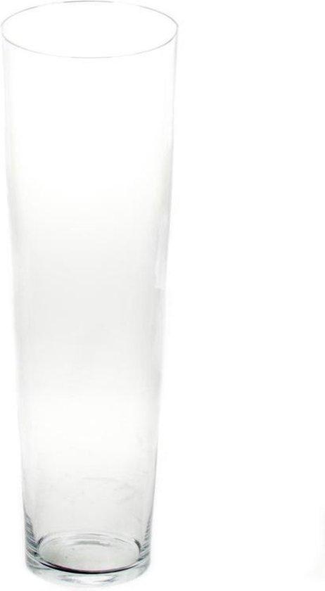Bol Com Conische Vaas Glas 70 Cm Glazen Bloemenvaas Taps Decoratieve Vazen