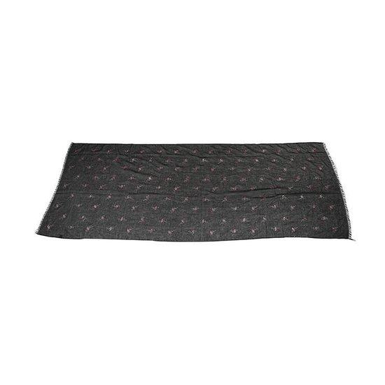 Sjaal met Flamingo's Glitter - Viscose - 70x180 cm - Zwart - Dielay - Dielay