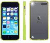 Apple iPod Touch 6 Hoesje Bumper case met achterkant Groen