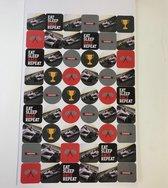 162 kleine race stickers- Stickers van Race auto's Formule 1 School set etui accesoire