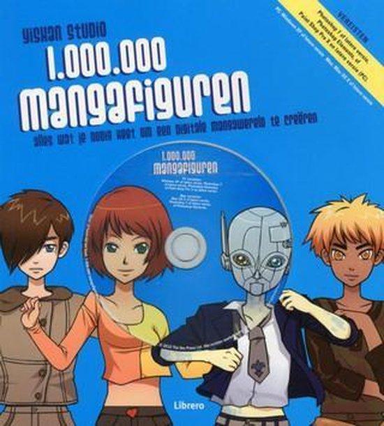 Cover van het boek '1.000.000 mangafiguren' van Yishan Li
